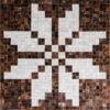 ASKA  Brown / Mocha | Cream / White - Handmade Cowhide | Geometric | Modern | Patchwork | Custom Rug